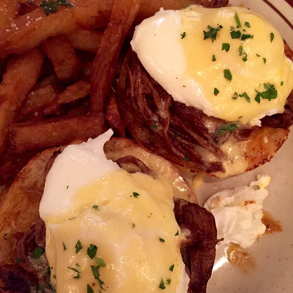 Beef Short Rib Eggs Benedict - Beehive, Boston, MA