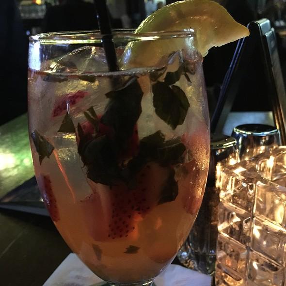 Strawberry Basil Lemonade Cocktail @ emerald loop