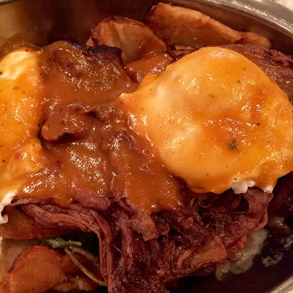 Poutine Short Rib And Poached Eggs - Beehive, Boston, MA