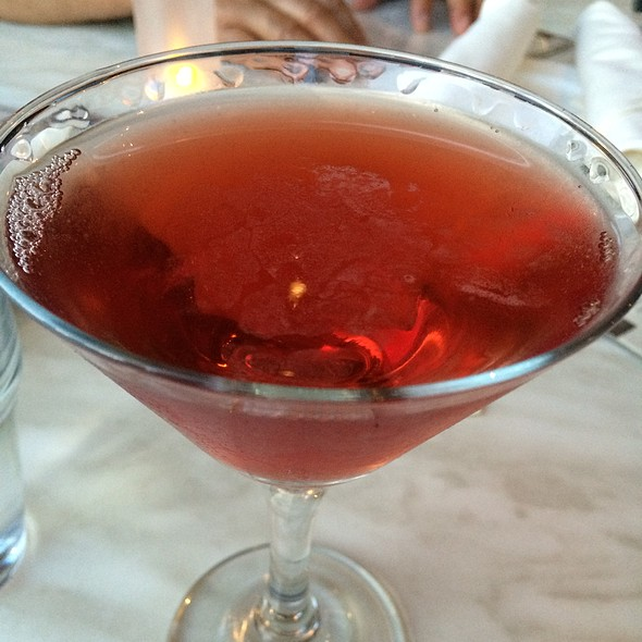 Poma Cosmo, Poma Liquor, Combier, Fresh Lime Juice, Cranberry - The Daily Catch Seaport, Boston, MA