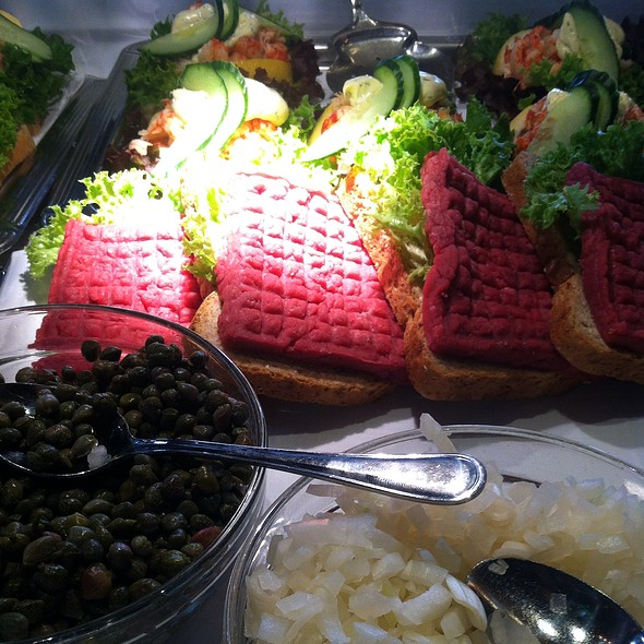 Steak Tartare Open Sandwich