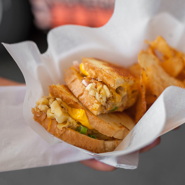 Crab Mac and Cheese Grilled Cheese @ Flavor Face Mobile Food & Catering