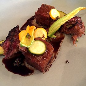 Smoked Lamb Shoulder With Summer Squash And Fried Zucchini Bread
