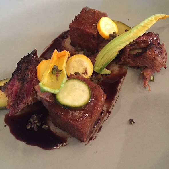 Smoked Lamb Shoulder With Summer Squash And Fried Zucchini Bread - Coquette, New Orleans, LA