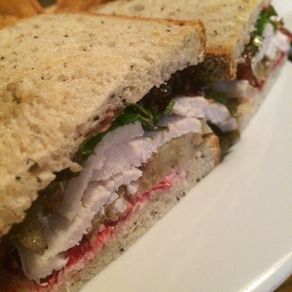 Turkey, Stuffing And Cranberry Mayo Sandwich - The Red Lion Inn, Stockbridge, MA