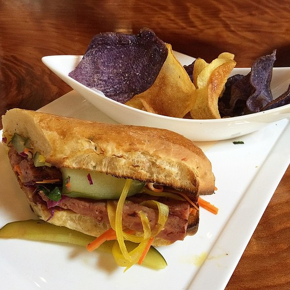 Smoked Lamb Sausage 'Bánh Mì' Fermented Chili – Pickled Vegetables  @ Valette