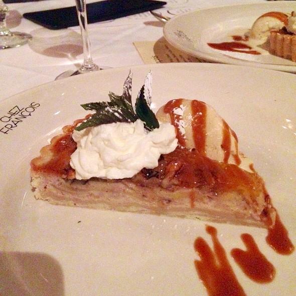Apple Frangipane Tart & Walnut Ice Cream & Carmel Sauce - Chez Francois - Vermilion, Vermilion, OH