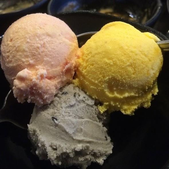 Plum, Mango, Black Sesame Ice Cream @ Little Sheep Mongolian Hot Pot