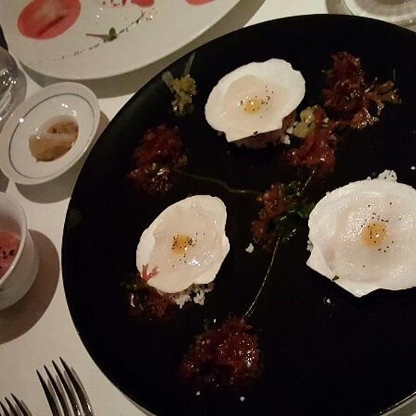 Scallop Ceviche, Raw Tuna, And Potsticker - Europea, Montreal, QC
