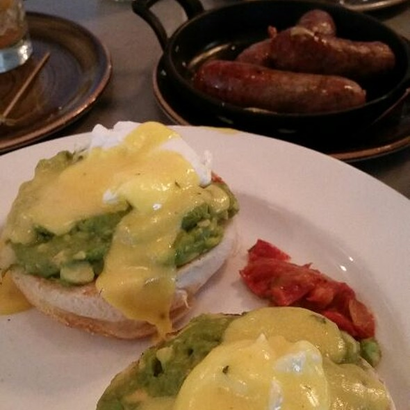 Avocado Benedict, House Made Fennel Sausage @ Urban Farmer Cleveland Oh