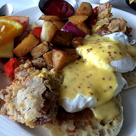 Soft Shell Crab Eggs Benedict - Gertrude's - Baltimore, Baltimore, MD