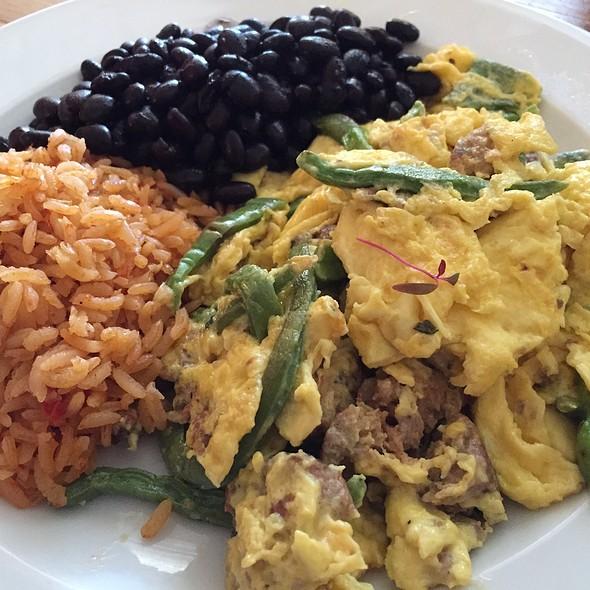 Chorizo Sausage, Cactus, And Eggs - Dos Perros, Durham, NC