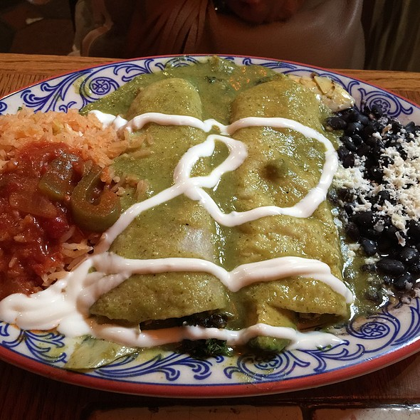 Avocado & Artichoke Heart Enchilada - Pancho's, Manhattan Beach, CA
