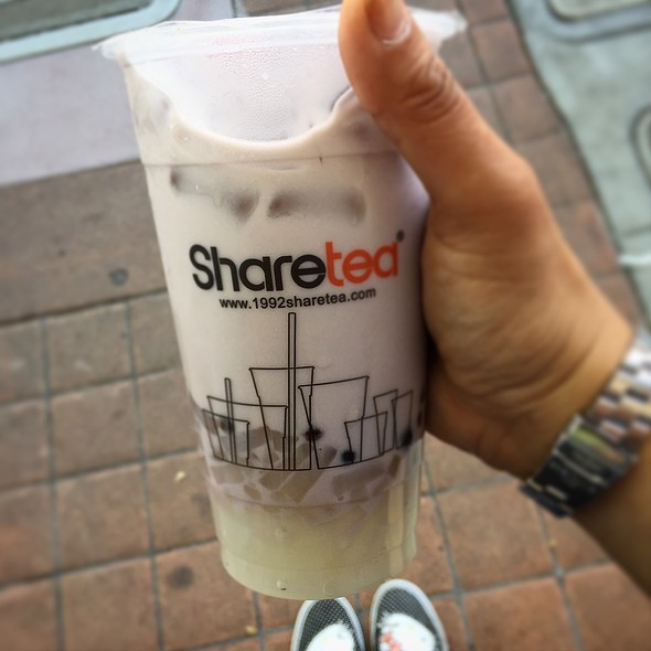 Taro Milk Pearl Tea @ Sharetea