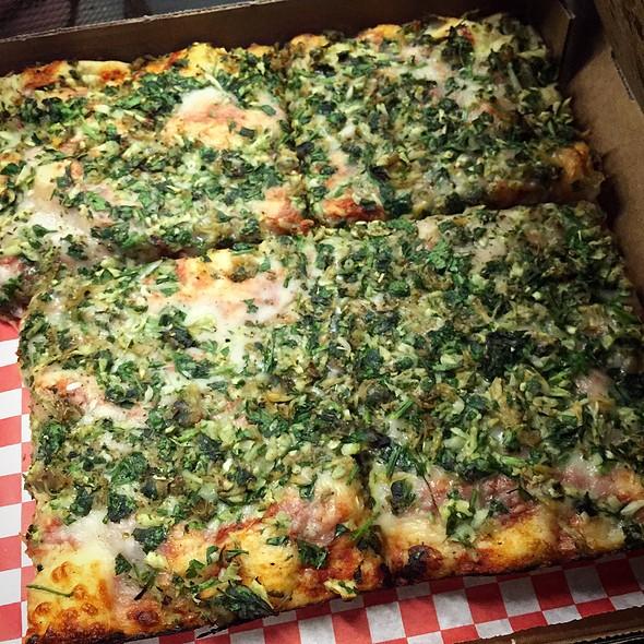Clam & Garlic Pizza @ Golden Boy Pizza