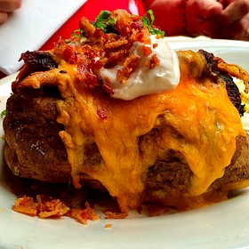 Loaded Baked Potato With Beef Brisket