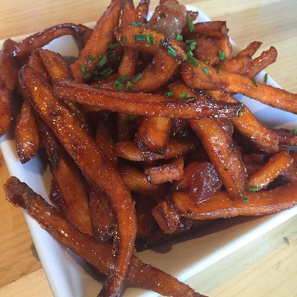 Maple Bacon Sweet Potato Fries @ Umami Burger