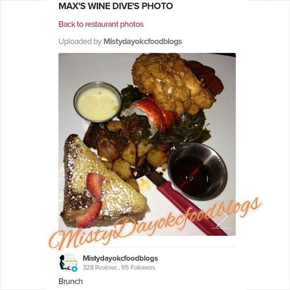 Fried Chicken, Grilled Lobster Tale,greens,potatoes - MAX's Wine Dive Dallas - McKinney Ave., Dallas, TX