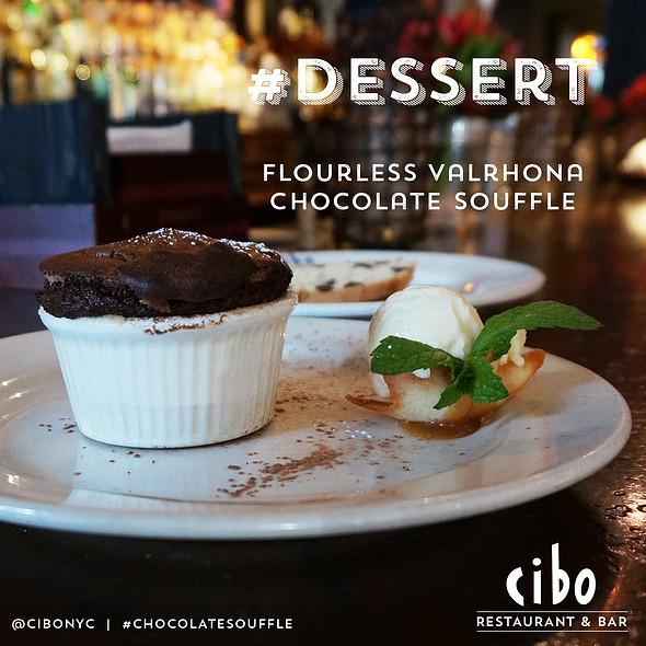 Flourless Valrhona Chocolate Souffle - Cibo, New York, NY
