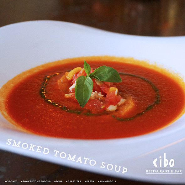 Smoked Tomato Soup - Cibo, New York, NY