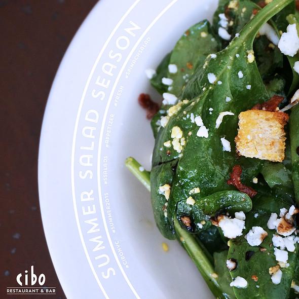 Organic Baby Spinach Salad - Cibo, New York, NY