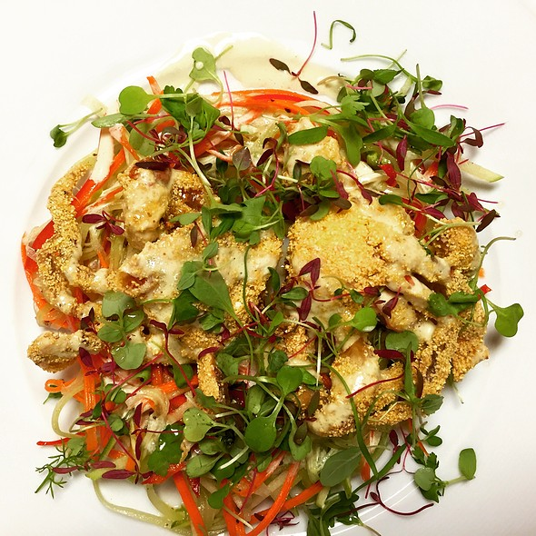 Pan Fried Soft-Shell Crabs with Vegetables and Greens