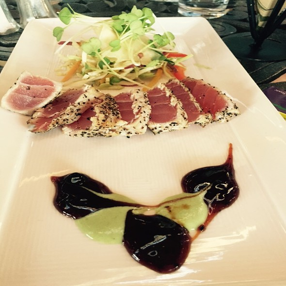 Tuna Tataki Sushi - Hoist House Restaurant at Swiftwater Cellars, Cle Elum, WA