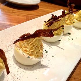 Deviled Eggs With Crispy Chorizo