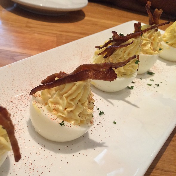 Deviled Eggs With Crispy Chorizo - Kingsbury Street Cafe, Chicago, IL