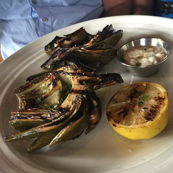 Grilled Artichoke @ Farmstead at Long Meadow Ranch
