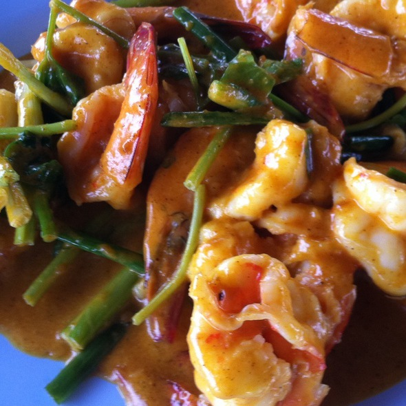 Yellow Curry Shrimp @ Bangkok Sea View Restaurant