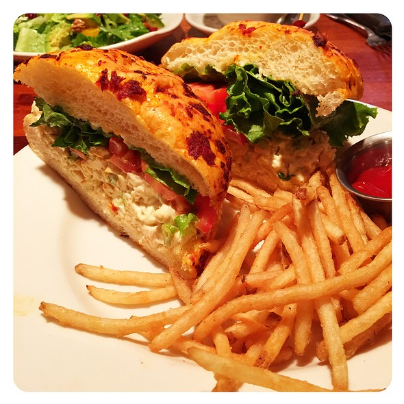 Cashew Chicken Salad Sandwich @ Claim Jumper Restaurant