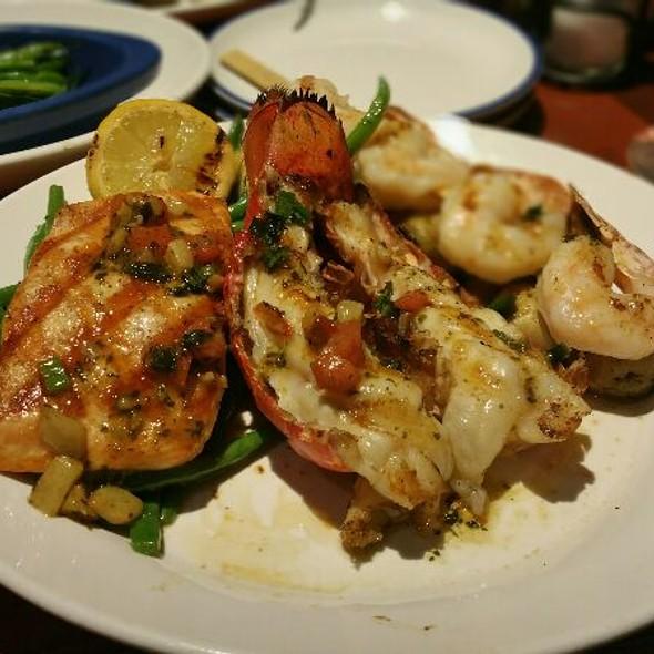Wood-Grilled Lobster, Shrimp & Salmon