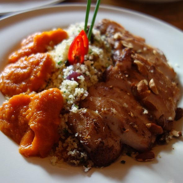 Chicken with Moroccan Herbs and Couscous  @ Coffee Bar Bonch