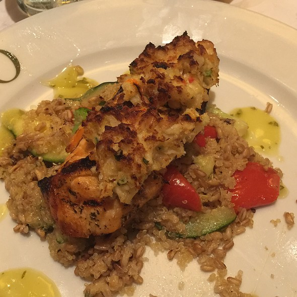 Crab & Shrimp Crusted Salmon @ Brio Tuscan Grille