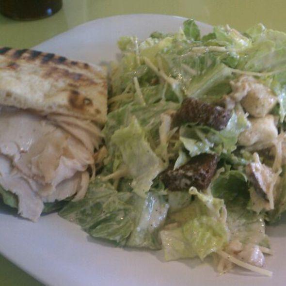 Turkey Club Sandwich + Ceasar Salad