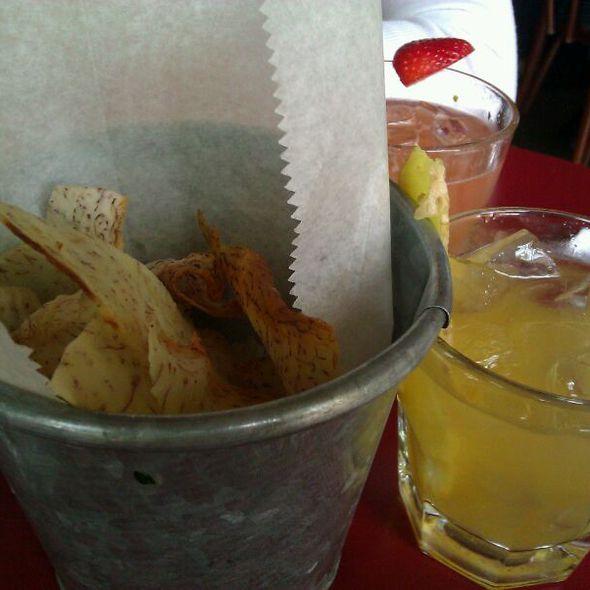 taro chips @ Maharlika Filipino Pop-up Brunch @ Léon