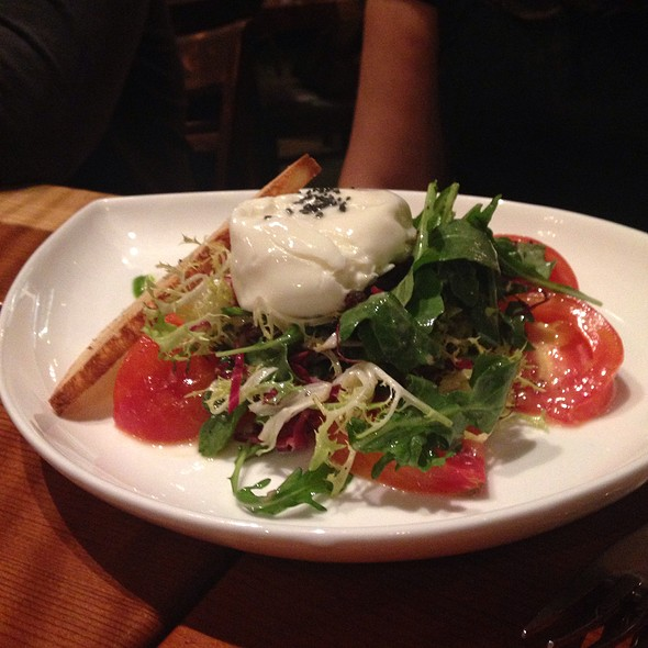 Housemade Burrata Cheese Heirloom Tomato Salad @ Valette