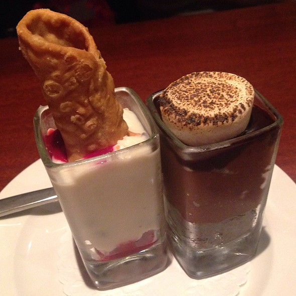 Raspberry Cannoli And Belgian Chocolate Smore - Seasons 52 - Cherry Hill, Cherry Hill, NJ