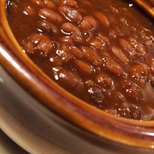 Crock of Homemade Boston Baked Beans