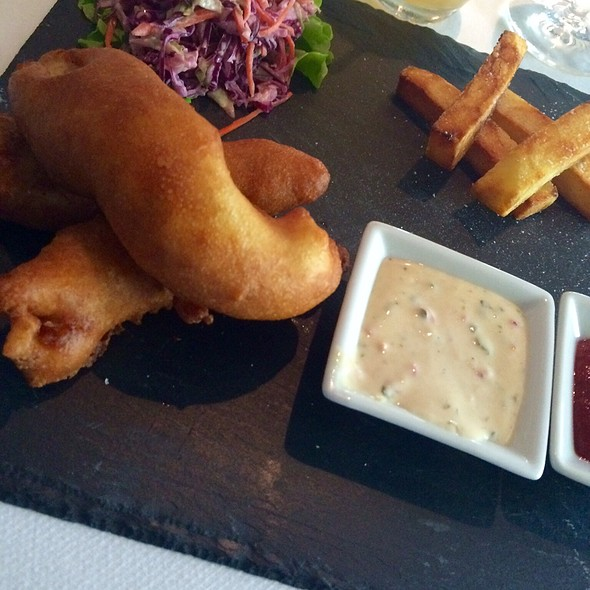 Dorchester Fish & Chips - Polo Lounge @  The Beverly Hills Hotel, Beverly Hills, CA