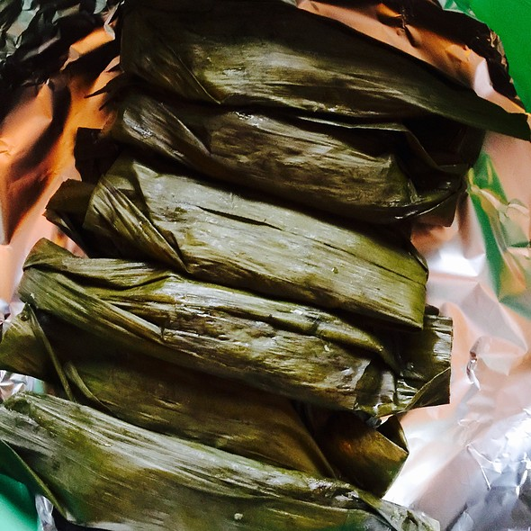 Cassava With Coconut And Cinnamon In Banana Leaves @ Stichting Suara Jawa