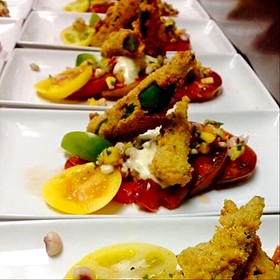 Tomato & Fried Okra Salad