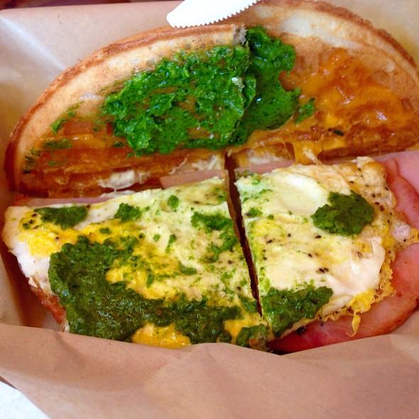 Green Eggs And Ham With Arugula Pesto @ Bruxie