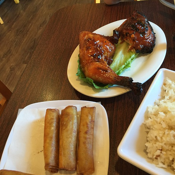 Lumpia, Bbq Chicken & Garlic Rice