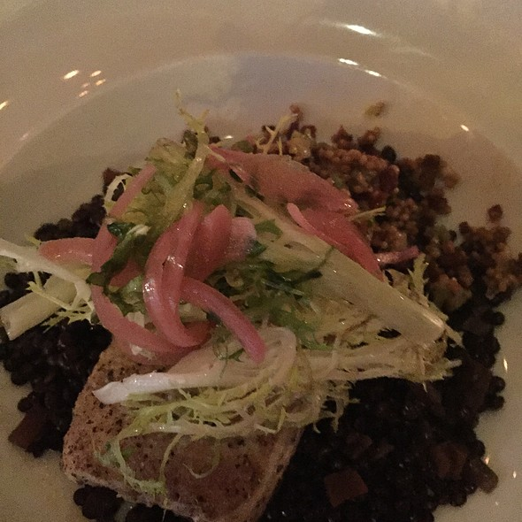 Halibut With Lentils