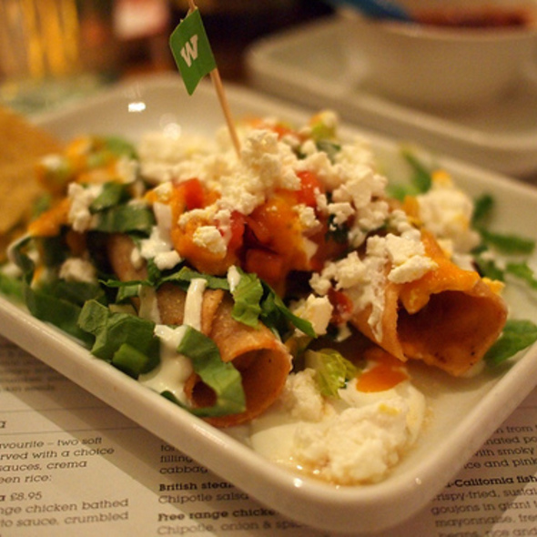 Potato taquitos at Wahaca