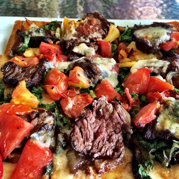 Steak And Blue Cheese Flatbread @ Sisters Bistro
