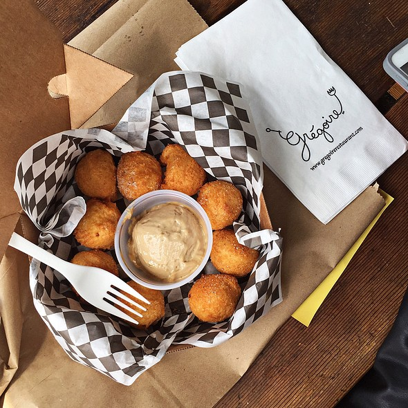 Potato puffs @ Gregoire