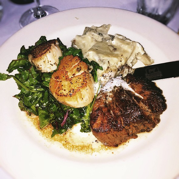 Surf Turf (Filet & Scallops) - Cool River Cafe - Dallas, Irving, TX